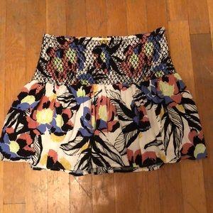 free people flower mini skirt